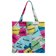 Stickies Post It List Business Grocery Tote Bag by Celenk