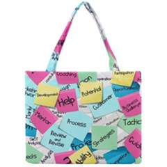 Stickies Post It List Business Mini Tote Bag by Celenk