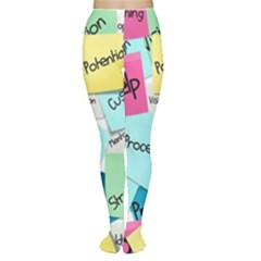 Stickies Post It List Business Women s Tights by Celenk