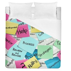 Stickies Post It List Business Duvet Cover (queen Size) by Celenk