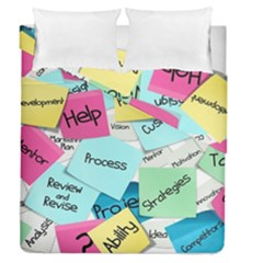 Stickies Post It List Business Duvet Cover Double Side (queen Size) by Celenk