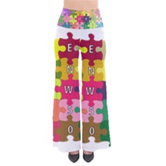 Puzzle Part Letters Abc Education Pants by Celenk