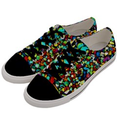 Colorful Stones, Nature Men s Low Top Canvas Sneakers by Costasonlineshop