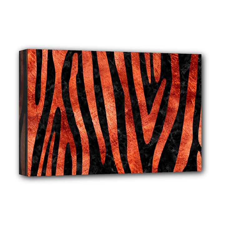 SKIN4 BLACK MARBLE & COPPER PAINT Deluxe Canvas 18  x 12