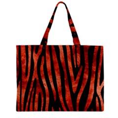 Skin4 Black Marble & Copper Paint Zipper Mini Tote Bag by trendistuff