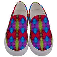 Colorful Painting Goa Pattern Men s Canvas Slip Ons
