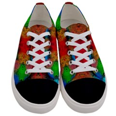 Colorful Goa   Painting Women s Low Top Canvas Sneakers