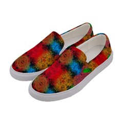Colorful Goa   Painting Women s Canvas Slip Ons by Costasonlineshop