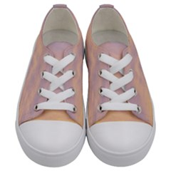 Yellow Blue Pastel Sky Kids  Low Top Canvas Sneakers