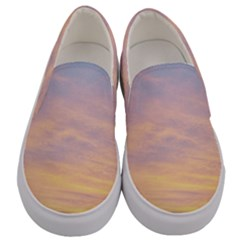 Yellow Blue Pastel Sky Men s Canvas Slip Ons