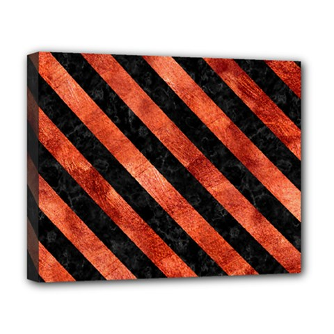 Stripes3 Black Marble & Copper Paint Deluxe Canvas 20  X 16   by trendistuff