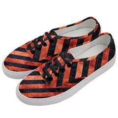 Stripes3 Black Marble & Copper Paint (r) Women s Classic Low Top Sneakers by trendistuff