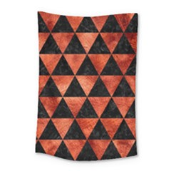 Triangle3 Black Marble & Copper Paint Small Tapestry by trendistuff