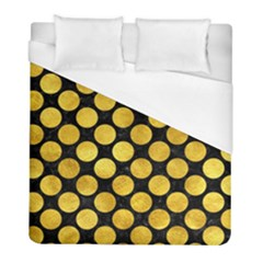 Circles2 Black Marble & Gold Paint (r) Duvet Cover (full/ Double Size) by trendistuff