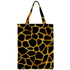 Skin1 Black Marble & Gold Paint Zipper Classic Tote Bag by trendistuff