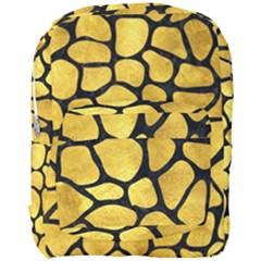 Skin1 Black Marble & Gold Paint (r) Full Print Backpack by trendistuff