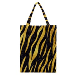 Skin3 Black Marble & Gold Paint (r) Classic Tote Bag by trendistuff
