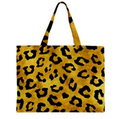 Skin5 Black Marble & Gold Paint (r) Zipper Mini Tote Bag by trendistuff