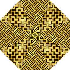 Woven2 Black Marble & Gold Paint Golf Umbrellas