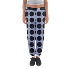 Circles1 Black Marble & Silver Paint Women s Jogger Sweatpants by trendistuff