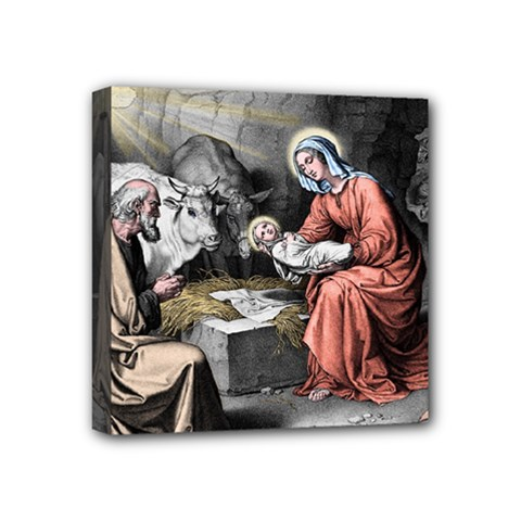 The Birth Of Christ Mini Canvas 4  X 4  by Valentinaart