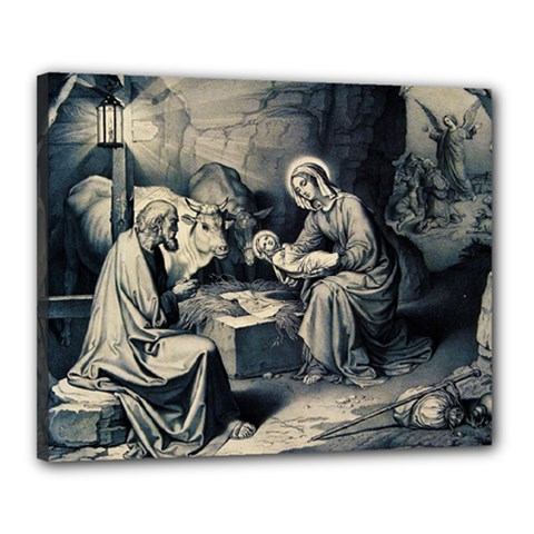 The Birth Of Christ Canvas 20  X 16  by Valentinaart