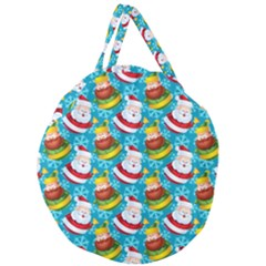 Christmas Pattern Giant Round Zipper Tote by tarastyle
