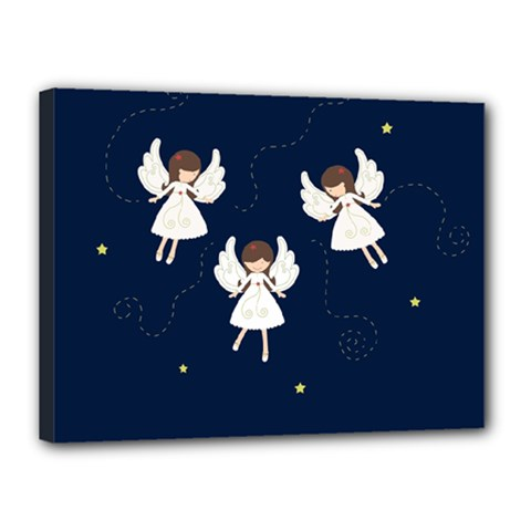 Christmas Angels  Canvas 16  X 12  by Valentinaart