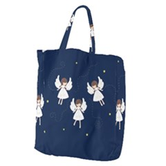 Christmas Angels  Giant Grocery Zipper Tote by Valentinaart