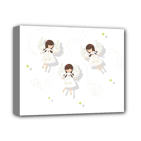 Christmas Angels  Deluxe Canvas 14  X 11  by Valentinaart