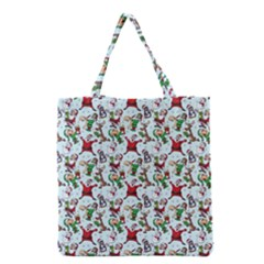 Christmas Pattern Grocery Tote Bag by tarastyle