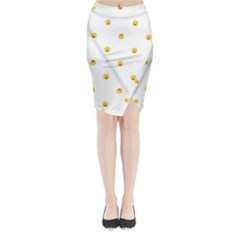 Happy Sun Motif Kids Seamless Pattern Midi Wrap Pencil Skirt by dflcprintsclothing