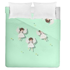 Christmas Angels  Duvet Cover Double Side (queen Size) by Valentinaart