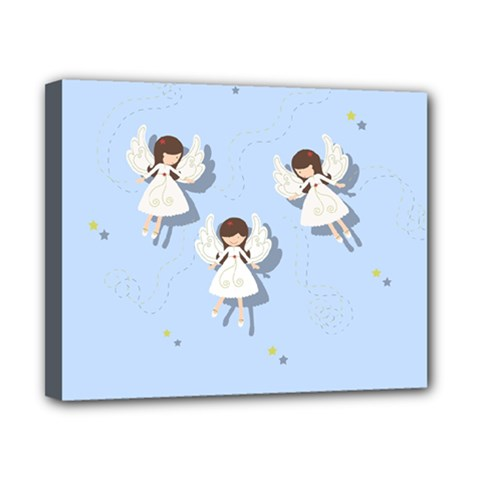 Christmas Angels  Canvas 10  X 8  by Valentinaart