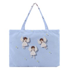 Christmas Angels  Medium Tote Bag by Valentinaart