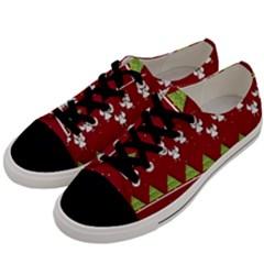 Christmas Angels  Men s Low Top Canvas Sneakers by Valentinaart