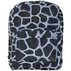 Skin1 Black Marble & Silver Paint Full Print Backpack by trendistuff