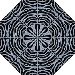 Skin2 Black Marble & Silver Paint (r) Hook Handle Umbrellas (small) by trendistuff