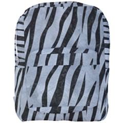 Skin3 Black Marble & Silver Paint Full Print Backpack by trendistuff