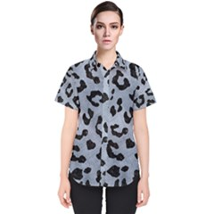 Skin5 Black Marble & Silver Paint (r) Women s Short Sleeve Shirt