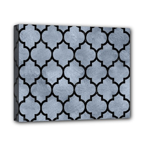 Tile1 Black Marble & Silver Paint Canvas 10  X 8  by trendistuff