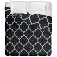 Tile1 Black Marble & Silver Paint (r) Duvet Cover Double Side (california King Size) by trendistuff