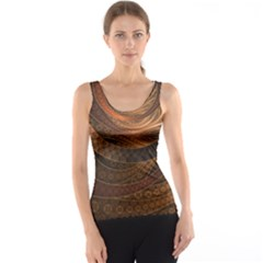 Brown, Bronze, Wicker, And Rattan Fractal Circles Tank Top by jayaprime