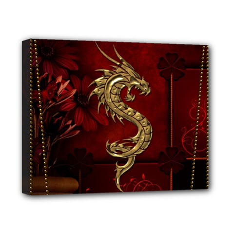 Wonderful Mystical Dragon, Vintage Canvas 10  X 8  by FantasyWorld7