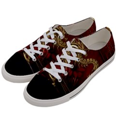 Wonderful Mystical Dragon, Vintage Women s Low Top Canvas Sneakers by FantasyWorld7