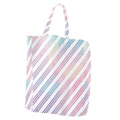 Colored Candy Striped Giant Grocery Zipper Tote by Colorfulart23