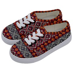 Aztec Mayan Inca Pattern 7 Kids  Classic Low Top Sneakers by Cveti