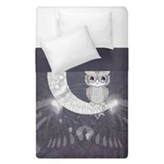 Mandala, Cute Owl On The Moon Duvet Cover Double Side (single Size) by FantasyWorld7