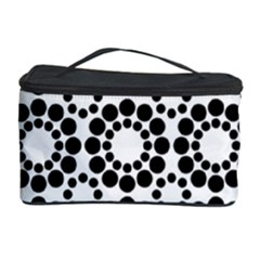 Black White Pattern Seamless Monochrome Cosmetic Storage Case by Celenk