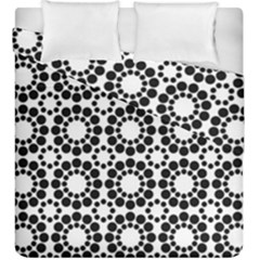 Black White Pattern Seamless Monochrome Duvet Cover Double Side (king Size) by Celenk